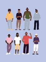 uomini neri con set in stile urbano