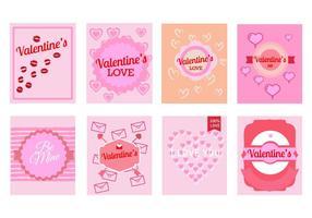 Vettore libero dei biglietti di auguri di San Valentino