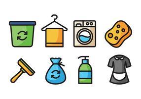 Icone di pulizia vettore