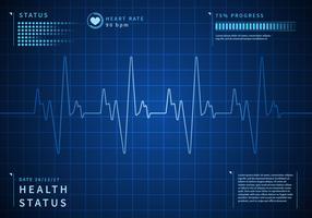 Vettore libero del fondo dettagliato di frequenza cardiaca