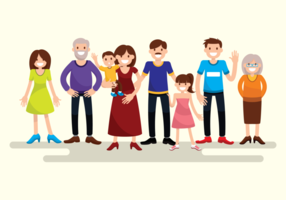 Ritratto di grande famiglia vettore