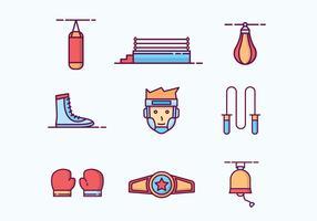 Icone di boxe delineate gratis