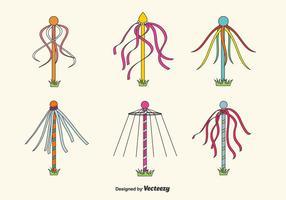 Set di vettore di palo della cuccagna
