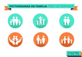 Pictogramas de Familia Pacchetto di vettore gratuito