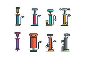Set di icone vettoriali Air Pump