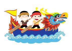 vettore festival drago barca