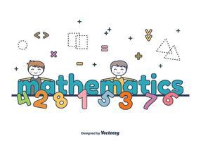 Matematica parola vettoriale