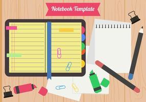 Stile piano di Block Notes in bianco vettore
