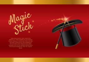 Vettore del modello del bastone magico