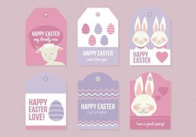 Insieme vettoriale di etichette di Pasqua