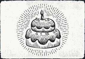 Sfondo di torta disegnata a mano libera vettore