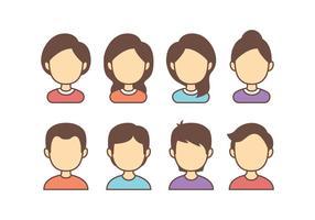 Icone di avatar vettore