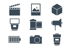 Icone di fotografia vettore