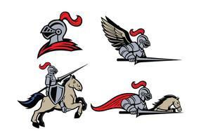 Vettore della mascotte di Lancers