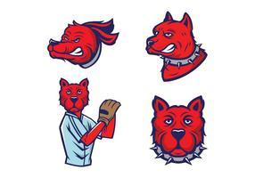 Vettore della mascotte dei cani