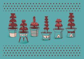 Vettori di fontana di cioccolato