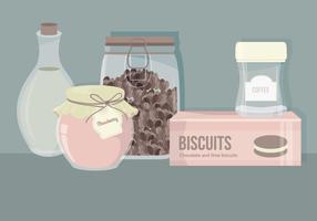 Vector Set di elementi essenziali di cucina
