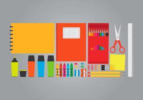 Set di forniture per ufficio e arte vettore
