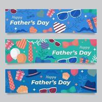 raccolta di banner per la festa del papà vettore