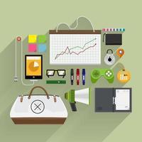 articoli di marketing in alto vettore