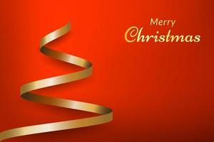 sfondo rosso di Natale con albero
