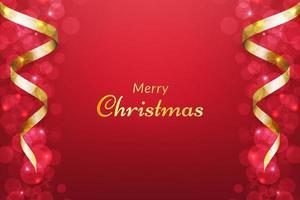 sfondo rosso di Natale con il nastro