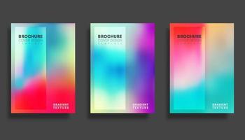 set di modelli di copertina sfocatura sfumata colorata