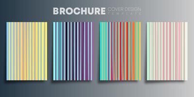 set di copertine sfumate colorate linee verticali