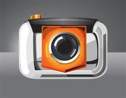 fotocamera compatta colore arancione