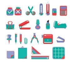 set di icone stazionario vettore