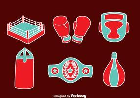 Vettori di elementi di boxe disegnati a mano