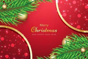 sfondo di Natale con i rami degli alberi