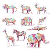 set di animali selvatici vettore