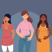 donne multirazziali in abiti casual