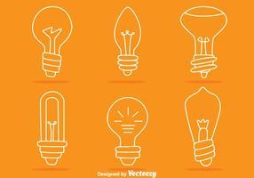 Vettori linea di lampadine