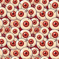 modello zombie bulbo oculare vettore
