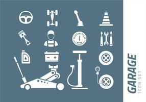 set di icone di garage vettore