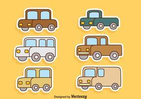 Vettori di automobili del fumetto