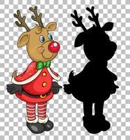 personaggio dei cartoni animati di cervi di Natale vettore