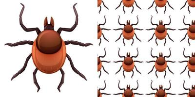 insetti delle pulci isolati su sfondo bianco e senza soluzione di continuità
