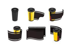 Collezione di film e scatola metallica