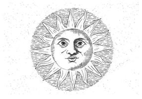 Illustrazione vettoriale di sole