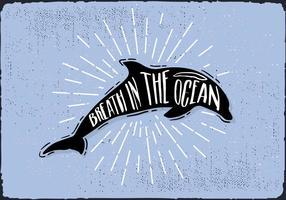 Sfondo di Dolphin disegnato a mano libera
