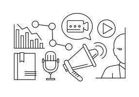 Icone vettoriali gratis di marketing lineare