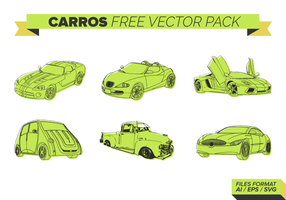 Green Carros Vector Pack gratuito