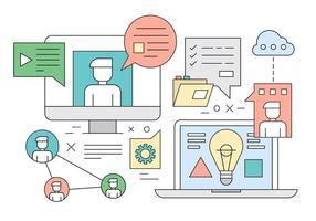 Illustrazione vettoriale gratis del concetto di apprendimento Web