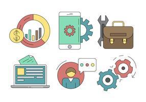Set di icone di affari e servizi vettore