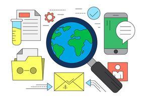 Illustrazione di ricerca e di analisi nel vettore