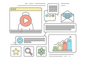 Icone di vettore di marketing online gratis