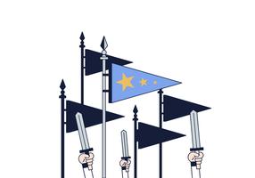 Vettore di bandiere di guerra gratis